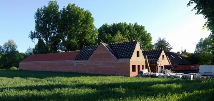 Stand de tir profil - construction toiture en cours