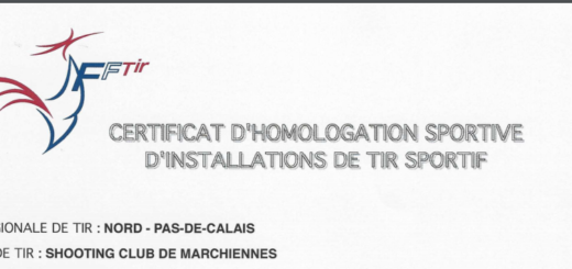 Homologation du Shooting club de Marchiennes